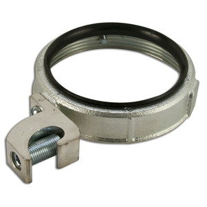 """Hubbell-Raco 1296 Grounding Bushing, 4"""", Threaded, Insulated, Malleable Iron"""