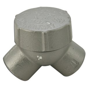 """Appleton ELBY-50 Pulling Elbow, Capped, 90°, 1/2"""", Explosionproof, Malleable Iron"""