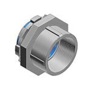 "Thomas & Betts 407-F Bullet Hub Connector, 2 1/2"", Steel/Nylon Insulated"