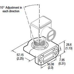 Allen-Bradley 60-2649 Mounting Bracket, Swivel/Tilt, +/- 10D, Vertical, 360D Rotation