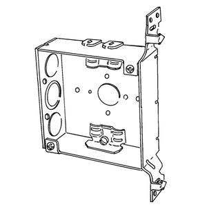 Appleton 4SRAB-EK 4 In Sq 1-1/2 Deep Welded Box