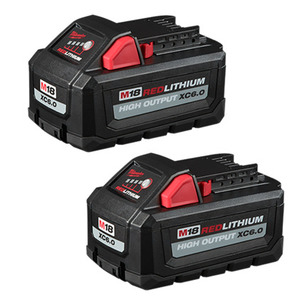 Milwaukee 48-11-1862 M18™ REDLITHIUM™ High Out™ XC6.0 Battery (2PK)