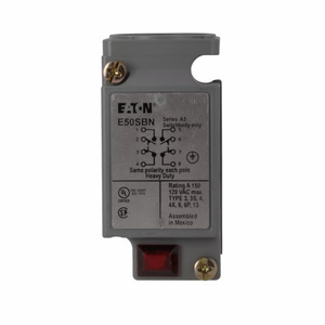 Eaton E50SBN Limit Switch Body, Double Pole