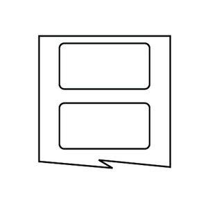 "HellermannTyton TAG27T1-822 1.5""x.75"" White Polyester, 1 Across, 3000/rl"