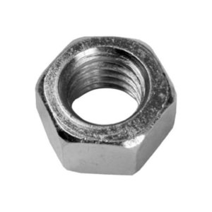 Dottie HNBR14 Hex Nut, Solid Brass, 1/4""