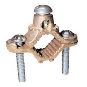 "Greaves G2 Ground Clamp, Water Pipe: 1-1/4 - 2"", Wire Range: 10 - 2 AWG, Bronze"