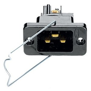 Hubbell-Wiring Kellems H320BL IEC320 MALE INLT W/CLAMP,20/16A 250V