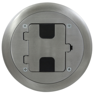 Hubbell-Wiring Kellems RF406ALU Floor Box Assembly, Includes Duplex Receptacle, Non-Metallic, Almond