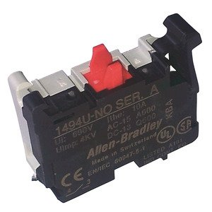 Allen-Bradley 1494U-NO Disconnect Switch, Auxiliary Contact, 1NO, 10A, A600/Q600 Standard