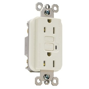 Pass & Seymour 1595-LA GFCI Receptacle, 15A, 125V, Light Almond