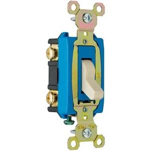 Pass & Seymour CSB15AC2-I Toggle Switch, 2-Pole, 15A, 120/277VAC, Ivory, Hard Use