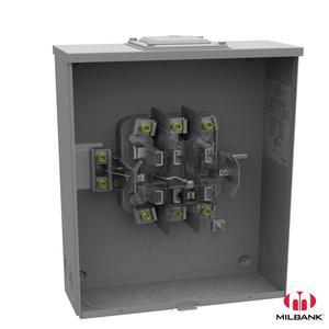 Milbank U7422-RXL Ring Type Meter Socket, 200A, 600VAC