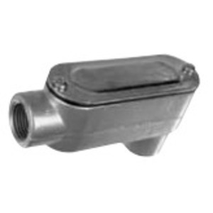 """Topaz LB5CG Conduit Body, Type: LB, Size: 1-1/2"""", Cover/Gasket, Aluminum"""