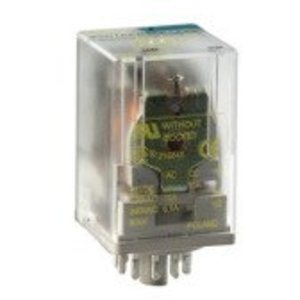 Square D 8501KPR12P14V20 Relay, Ice Cube, 10A, 277VAC, 30VDC, 120VAC Coil, 2PDT, 8 Pin