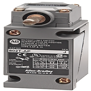 Allen-Bradley 802T-AP1 Limit Switch, NEMA 4/13, Plug-In, Lever Type, Spring Return