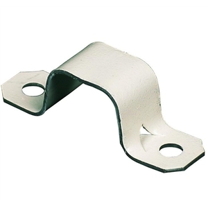 Wiremold 704WH Raceway Mounting Strap, Steel, White, 700 Series