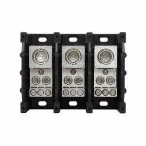 Eaton/Bussmann Series 16335-3 Power Distribution Block, 3-Pole, Single Primary - Multiple Secondary