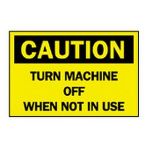 """Brady 22937 Sign, CAUTION, Not Illuminated, 7"""" x 10"""", Indoor/Outdoor *** Discontinued ***"""