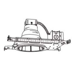 "Lithonia Lighting LP6F18DTT/TRTMVOLT Compact Fluorescent Downlight, 6"", 18W, 120-277V"