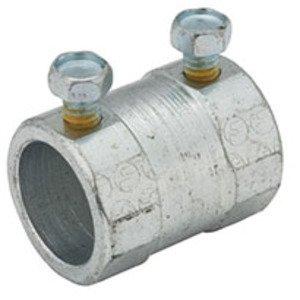 "Hubbell-Raco 3026 Rigid Set Screw Coupling, 1-1/2"", Steel, Concrete Tight"