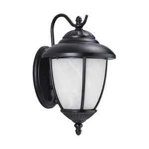 Sea Gull 84049EN3-12 1-Light Outdoor Wall Lantern, 9.5W LED, 120V, Black Finish