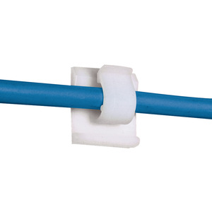 "Panduit ACC38-AT-C Cord Clip, Hi Temp Adh., .38"" (9.7mm) Bu"