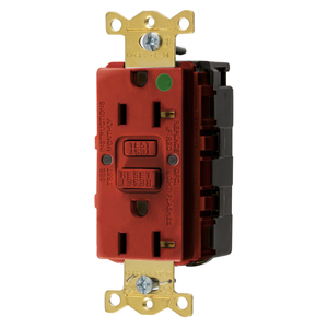 Hubbell-Wiring Kellems GFRST83SNAPR 20A COM HG SELF TEST SNAP GFR RED