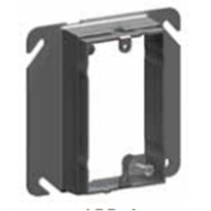 "Cablofil APR-1-5/8 4"" Square Cover, 1-Device, Mud Ring, 1-1/4"" Raised, Drawn, Metallic"