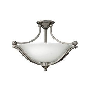 Hinkley Lighting 4669BN Semi-Flush Fixture, 3-Light, 100W, 120V, Brushed Nickel