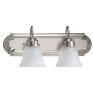 Quorum 5094-2-165 Vanity, 2-Light, 100 Watt, Satin Nickel Finish