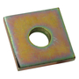 AB2411/2 1 HOLE PLATE  GOLD GALV