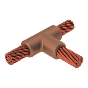 nVent Erico TAC2Q2Q Horizontal Tee Connection, Cable to Cable, 4/0 AWG, 150 Weld Metal