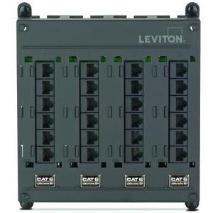 Leviton 476TM-624 Twist & Mount Patch Panel 24 CAT 6 Ports