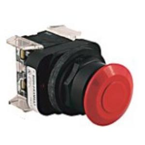 Allen-Bradley 800H-FRXNP26RA7 Push Button, 3-Position, Mushroom Head, Push-Pull, Illuminated