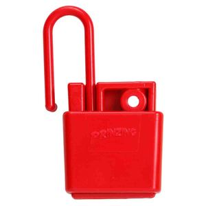 Brady LH220A-RD Lockout Hasp, Non-Conductive, Plastic, Red