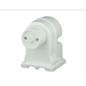 Leviton 13570-NW Fluorescent Lampholder, Recessed Double Contact, Pedestal, White