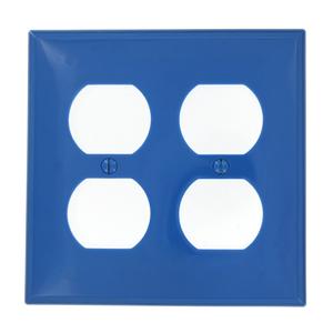 80716-BU BU WP 2G DUP OUT PLASTIC