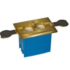 Carlon B121BFBB Adjustable Floor Box, 1-Gang, Brass