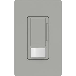 Lutron MS-Z101-GR Vacancy Sensor Switch Dimmer, 8A, Maestro, Gray