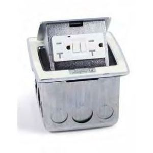 Lew PUFP-CT-WT Counter Box Assembly, 20A GFI Receptacle, Antique White *** Discontinued ***