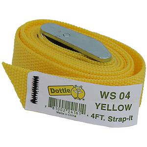 Dottie WS04 Web Strap w/ Buckle, Nylon, 5', Yellow