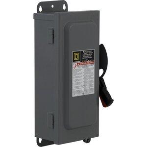 Square D HU361AWKEI Disconnect Switch, Non-Fusible, NEMA 12/3R, 30A, 3P, 600VAC, HD