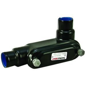 "Plasti-Bond PRHLR38 Conduit Body, Type: LR, FM8, Size: 1"", PVC Coated Iron"