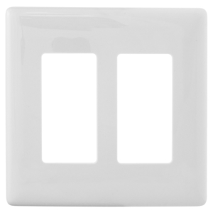 Hubbell-Wiring Kellems NPS262W WALLPLATE 2G DEC SNAP-ON WHITE