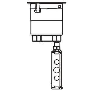 "Wiremold 6ATC2PBK Poke-Thru Assembly, Diameter: 6"", Type: (2) Duplex, Aluminum Cover"