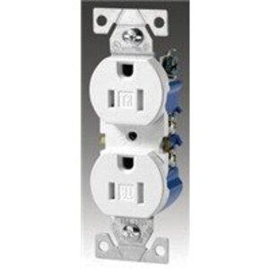 Eaton Wiring Devices 1107B-BOX RECP DECO DUPLEX 15A 125V 2P3W BR