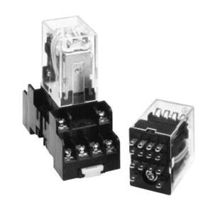 ABB CR420MPA044J Relay, 4P, 5A, Plug-In, 14 Blade, 120VAC Coil, Ice Cube
