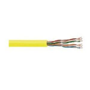 Commscope 874029014/10 Category 5e Cable, Plenum, 24 AWG, 4-Pair, 350MHz, Yellow, 1000'