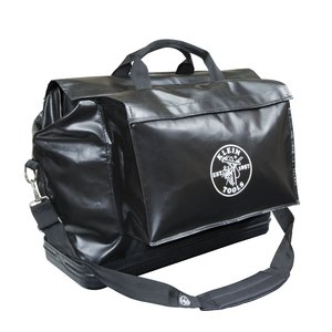 Klein 5182BLA 2-Pocket Vinyl Equipment Bag - Black