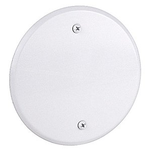 "Red Dot CCRB Round Cover, Blank, Flat, 5"", Weatherproof, White, Aluminum"